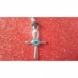 Colgante Cruz Egipcia con Ojo Turco